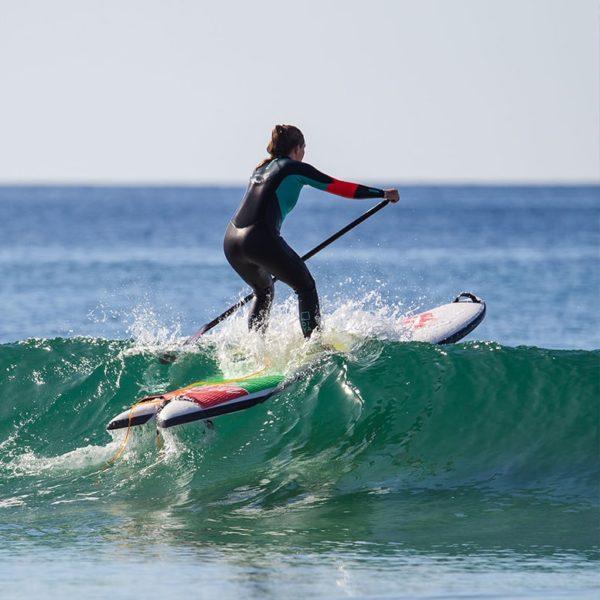 planche sealion summerboard passant au dessus d'une vague